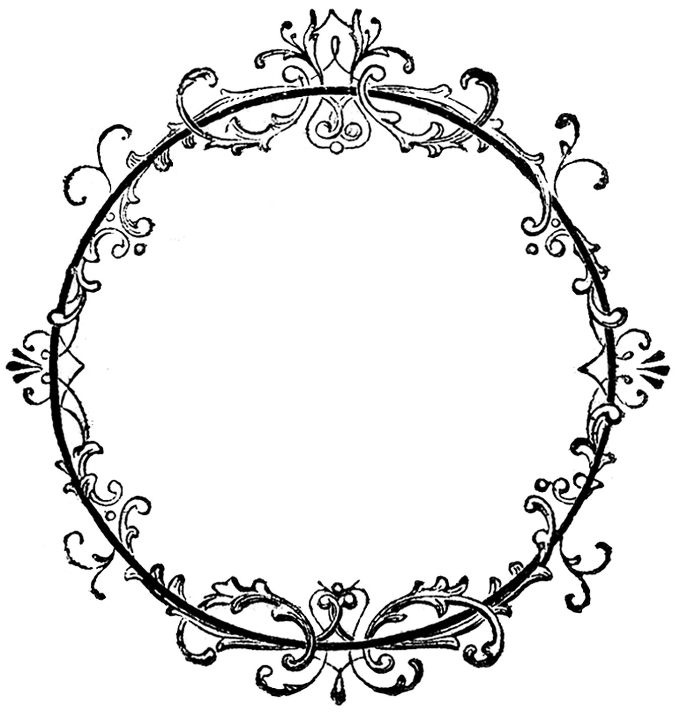 vintage frame tattoo designs. Vintage Clip Art - Old Ink Label Lacey Graphic Frame The Graphics Fairy Tattoo Designs