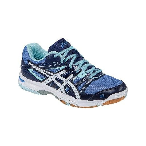 Women's ASICS GEL-Rocket 7 Court Shoe - Powder Blue/White/Indigo Blue