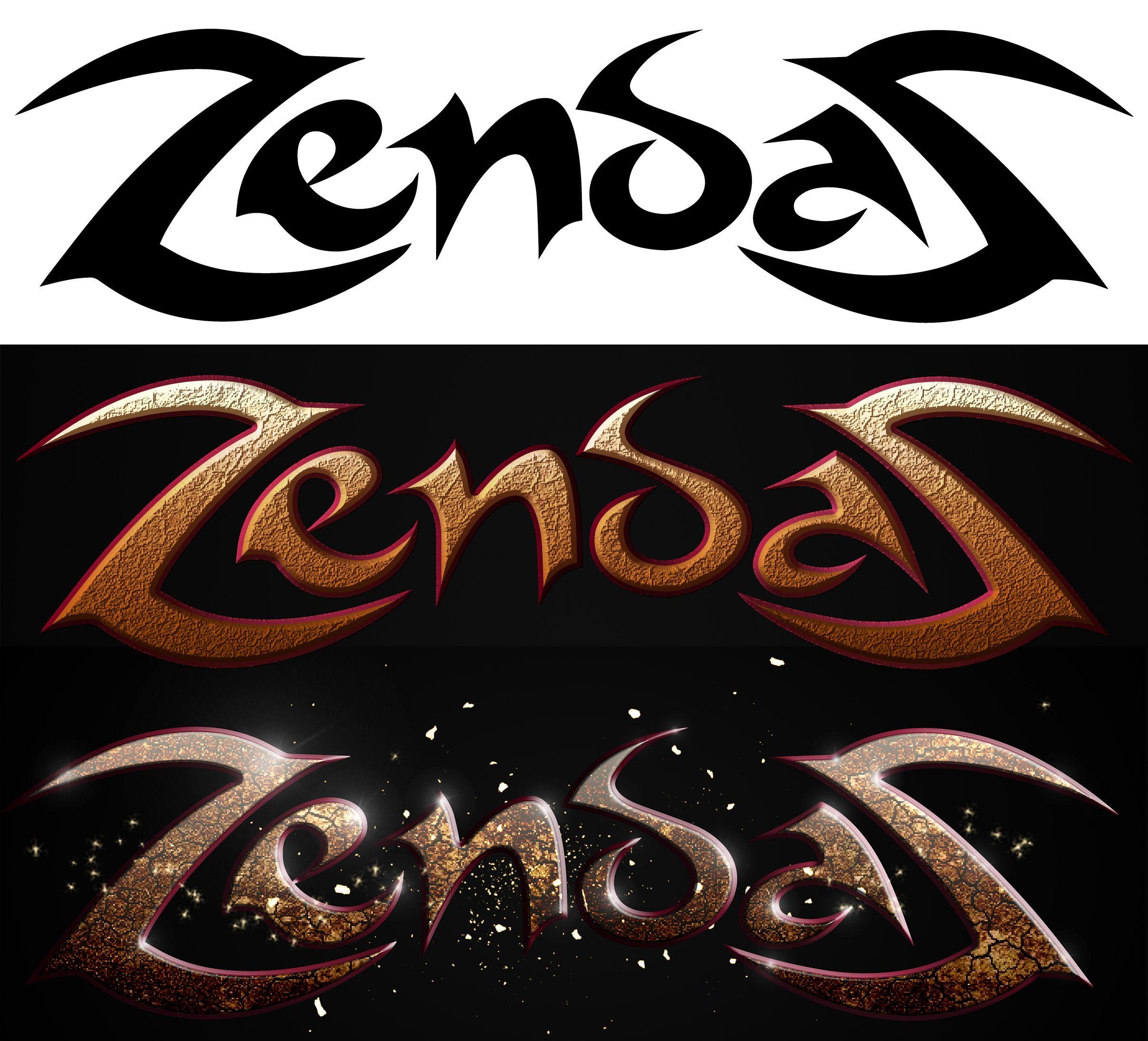 Diseno De Logotipo Logo Realizado En Sarins Para Videojuego Zendas