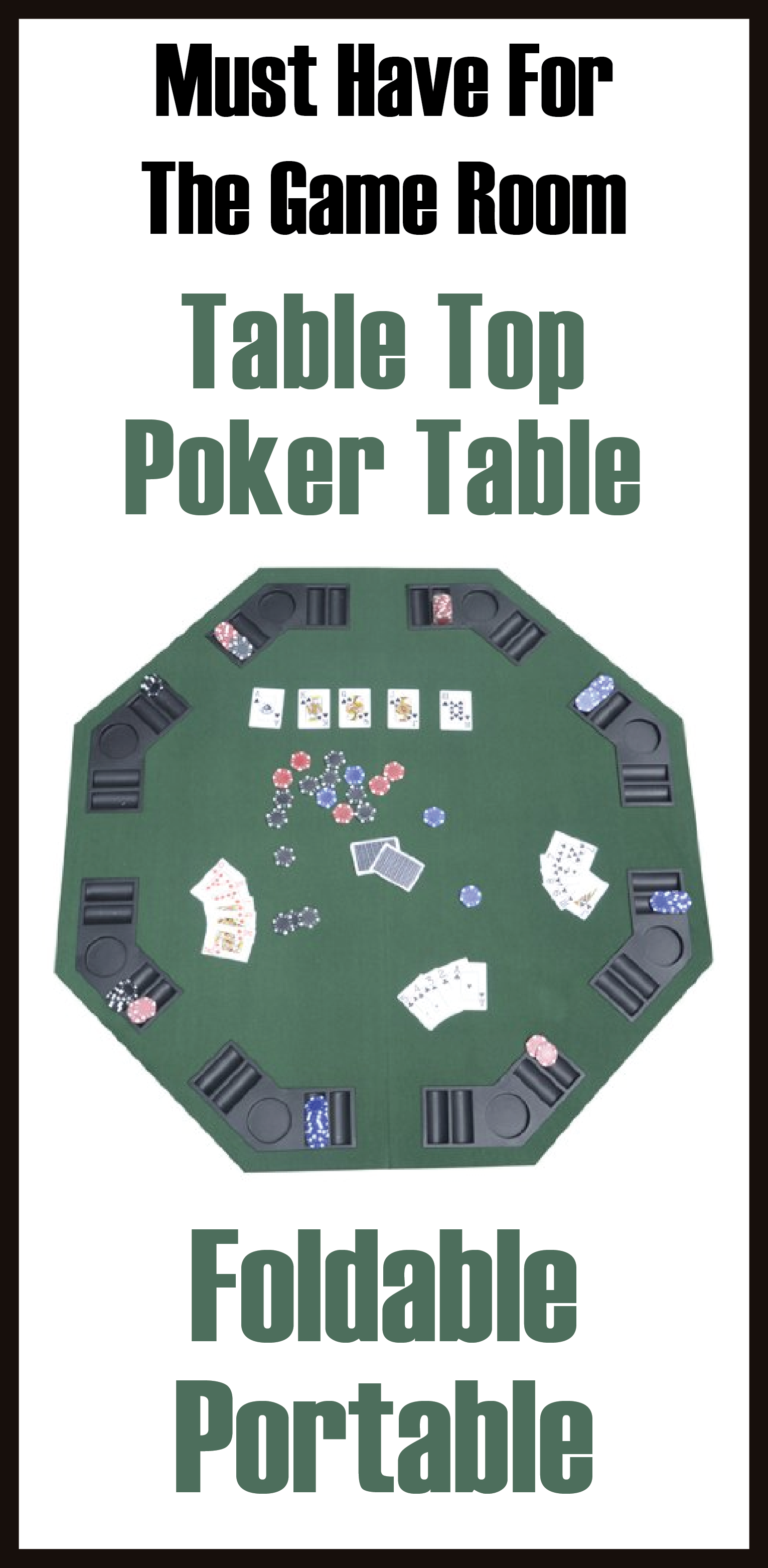 100% top quality 100% top quality the cheapest Deluxe Foldable Poker / Blackjack Card Game Table Top w ...