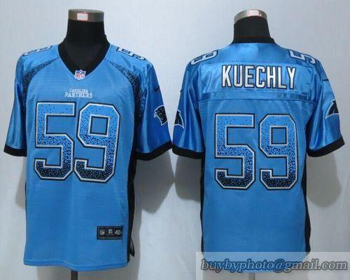 competitive price 95cca 7b469 NFL Carolina Panthers #59 Kuechly Drift Fashion Blue Elite ...