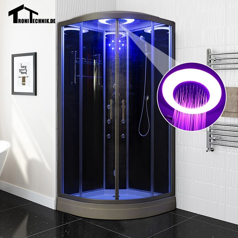 90cm balck Steam Shower massage Corner Cabin room Cabin hydro ...