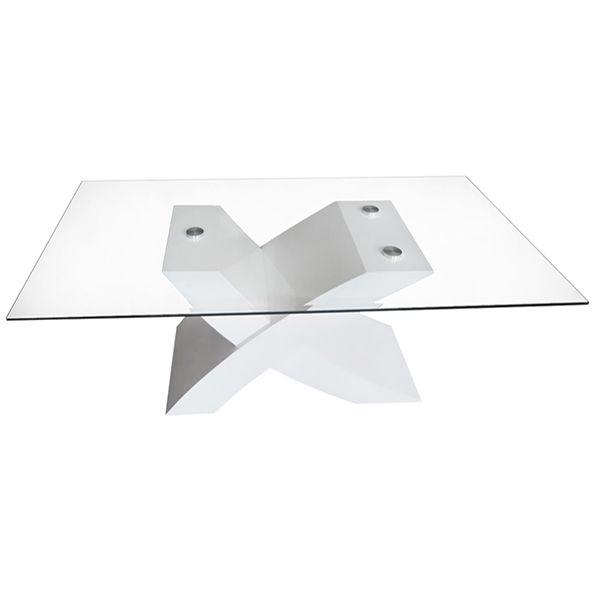 Table basse rectangulaire en verre \ - Hauteur Table Salle A Manger