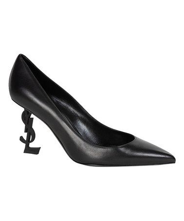 this black yslheel leather pump  women is perfect
