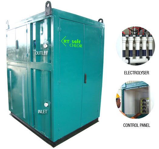 Onsite Hypochlorite Generator Systems Saltwater Pool System Locker Storage