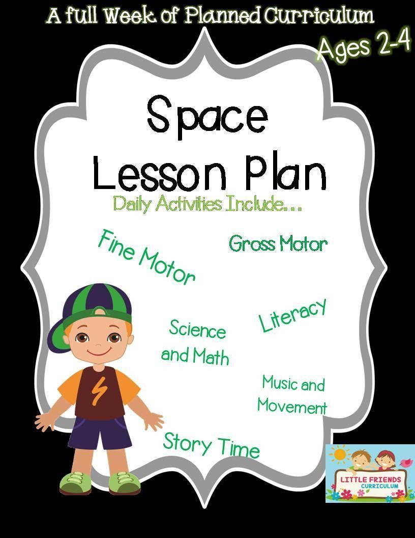 Preschool Lesson Plan Ideas For Space Theme With Daily Preschool Activities Space Lesson Plans Preschool Fine Motor Activities Preschool Lesson Plans [ 1056 x 816 Pixel ]