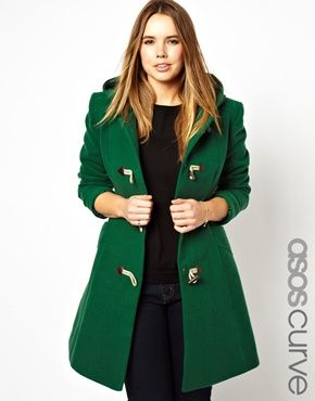 Curve Exclusive Duffle Coat With Hood Asos Curve And Duffle Coat