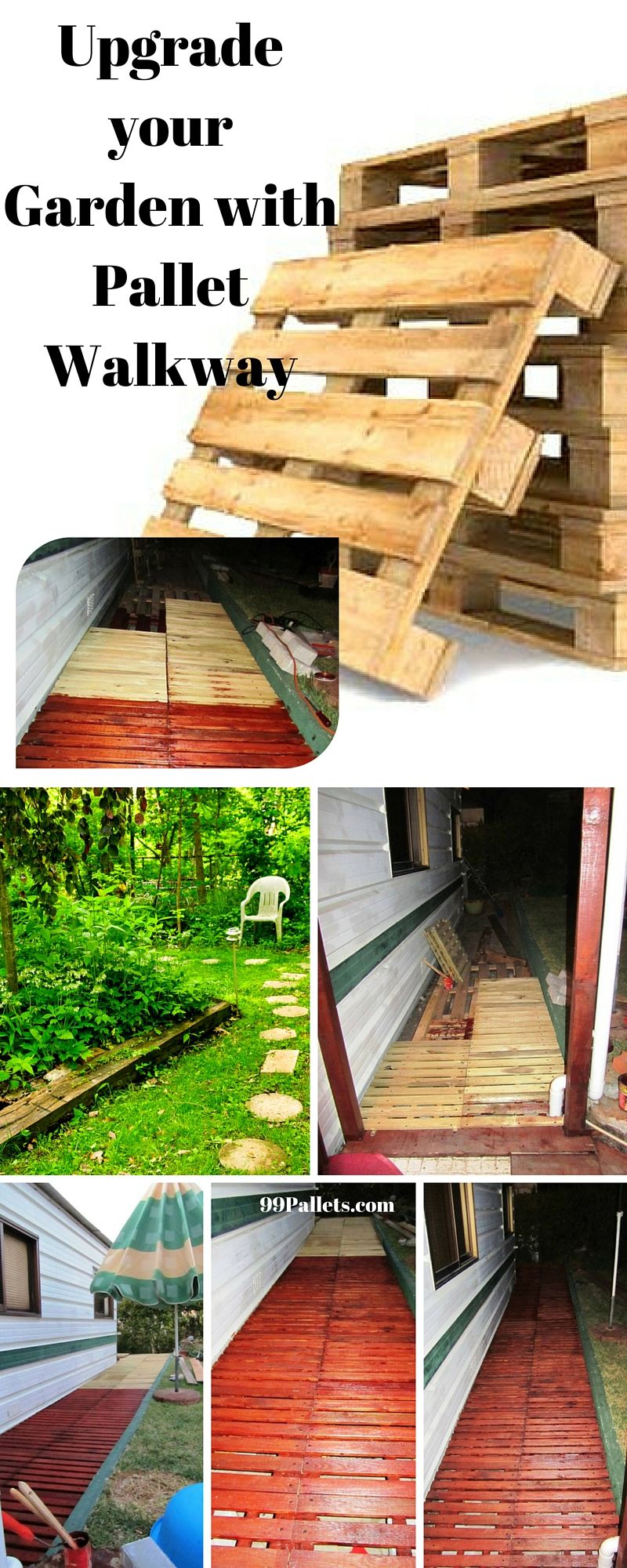 Pallet Walkway - Wooden Sidewalk Ideas | Pallet walkway ...