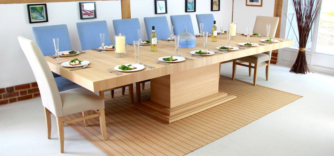 Middleton Large Extending Table In Solid Oak Square Dining