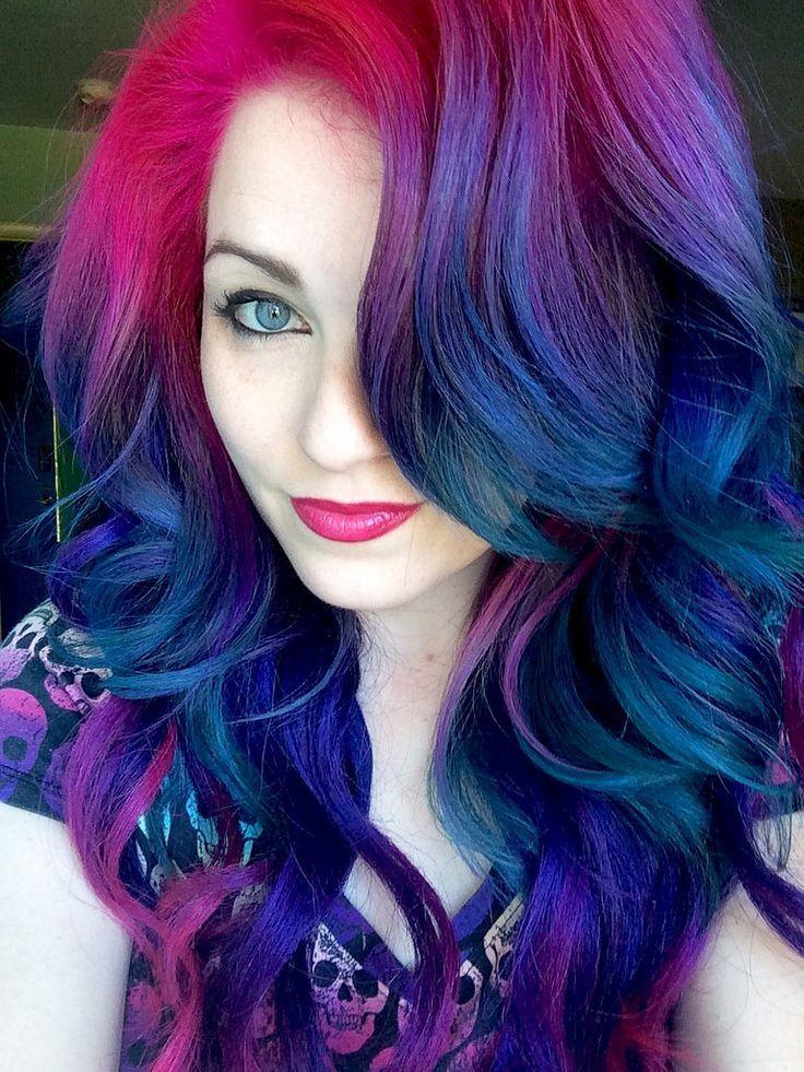 My current hair. Bright hair colors, Unicorn hair color