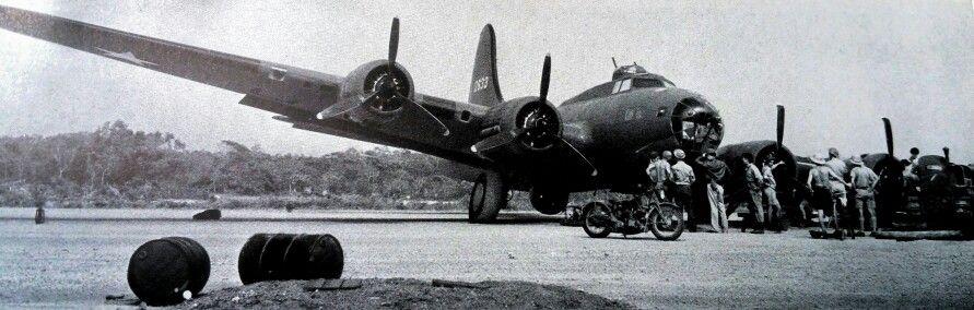 B-17 flat tire landing 1943.