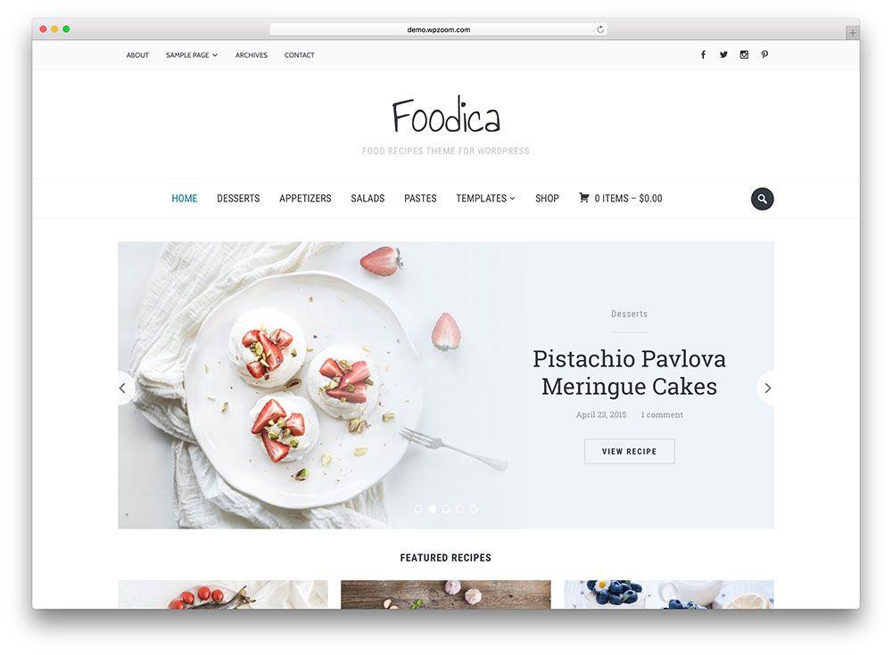 Foodica awesome food blog theme web pinterest foodica awesome food blog theme forumfinder Images