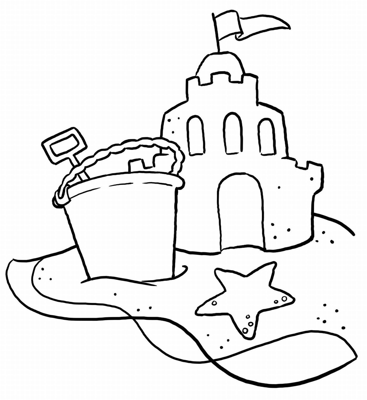 Printable coloring pages sand castle - Beach Coloring Pages 20 Free Printable Sheets To Color