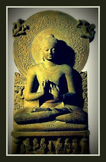 Fridge Magnet Buddha image Preaching the First by RetroMagnifico