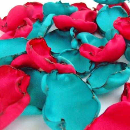Wedding decor https://www.etsy.com/listing/202007741/aqua-blue-and-red-flower-petals-mix-of https://www.etsy.com #wedding #bride #etsyshop #weddingplanner #etsy
