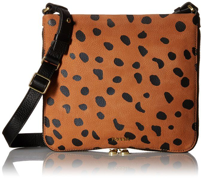 Fossil Preston Crossbody, Cheetah