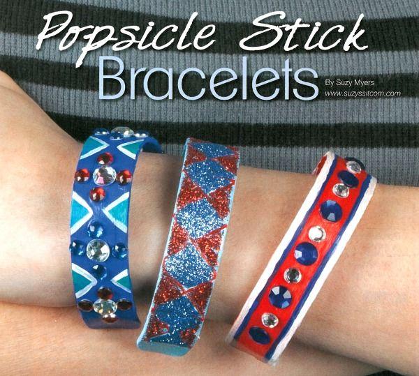Bracelets Made From Popsicle Sticks Fun Kids Craft