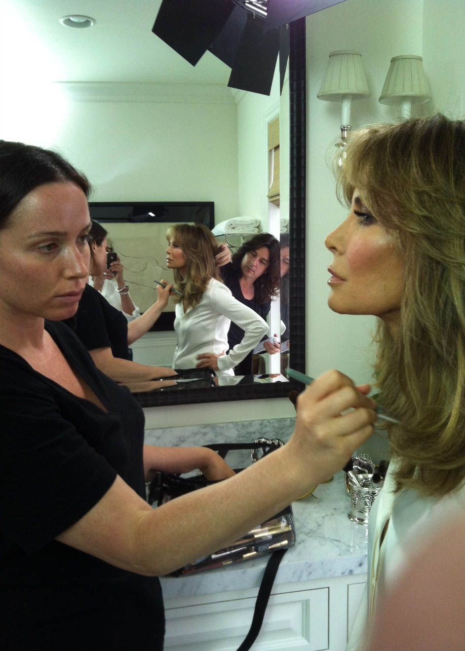 With makeup artist Mary Phillips. Makeup, Couple photos