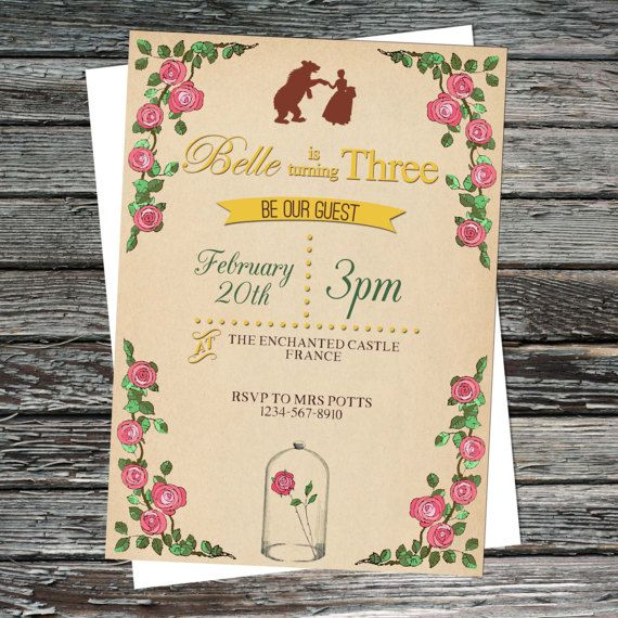 Vintage Beauty \ the Beast, Princess, Enchanted Roses Birthday Party