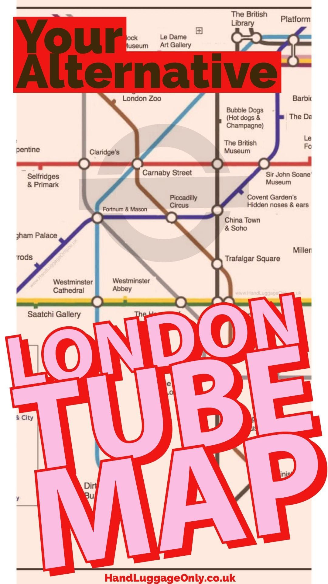 London Underground Map What To See At Each Stop Underground Map