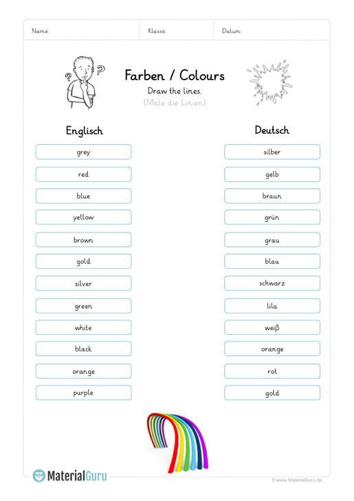 learning farben learning color words worksheets pdf 2019 german language learning englisch. Black Bedroom Furniture Sets. Home Design Ideas