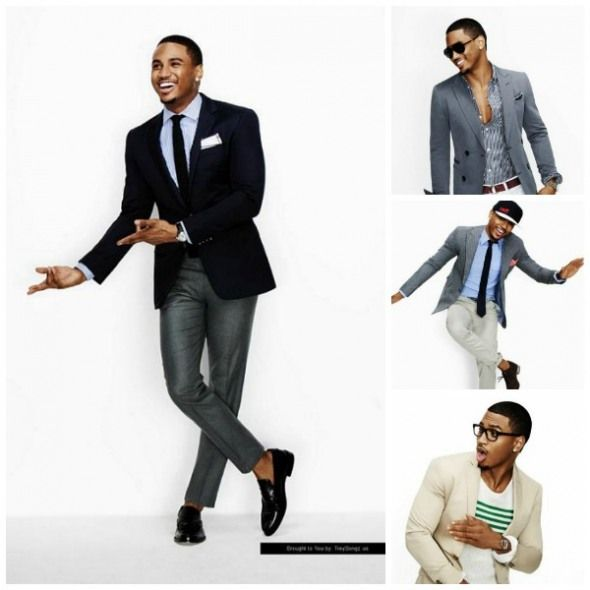 Trey Songs: different ways to wear a sports jacket   Black Men and ...