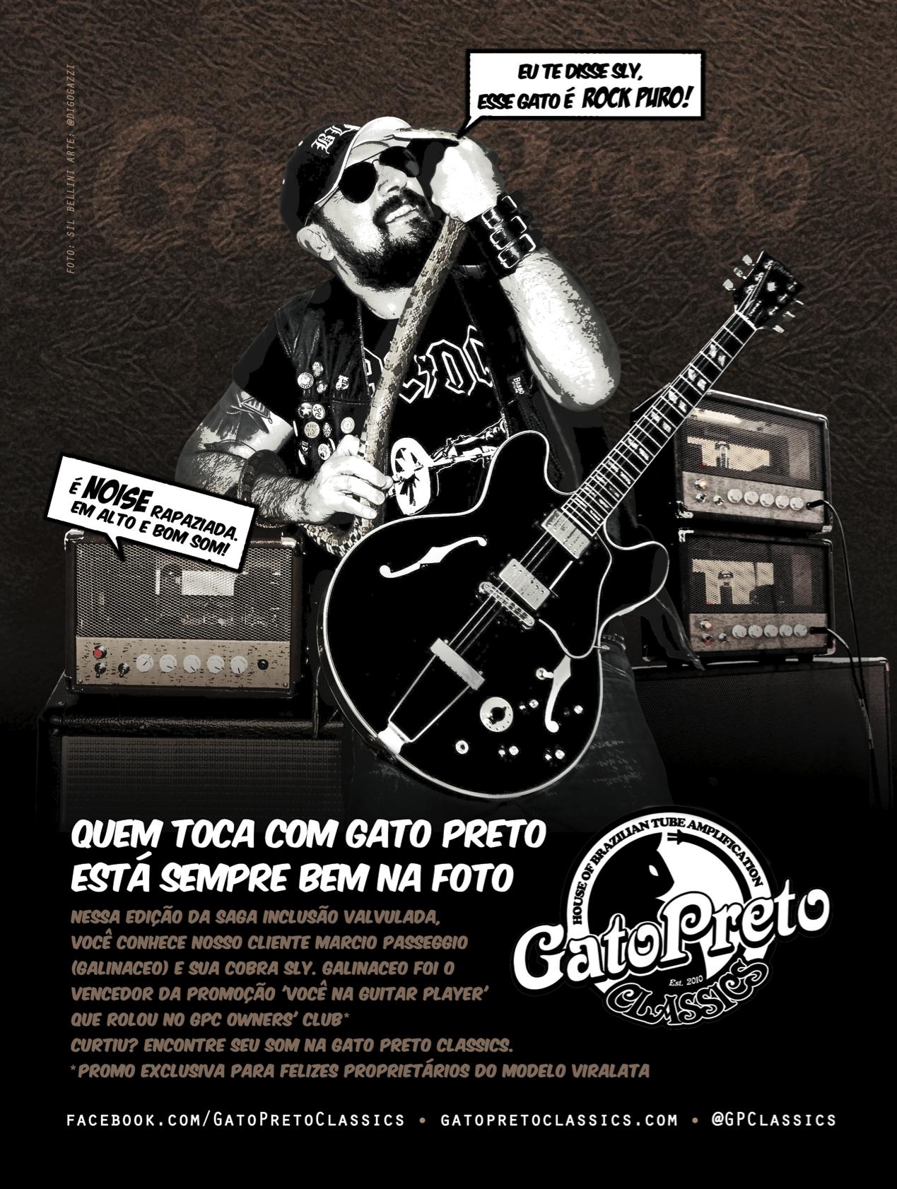 "Ad 5 - Guitar Player Magazine - Jul/13 -  Who: Marcio Passegio (Galinaceo) - GPC's Client - Campaign: ""Inclusão Valvulada"""
