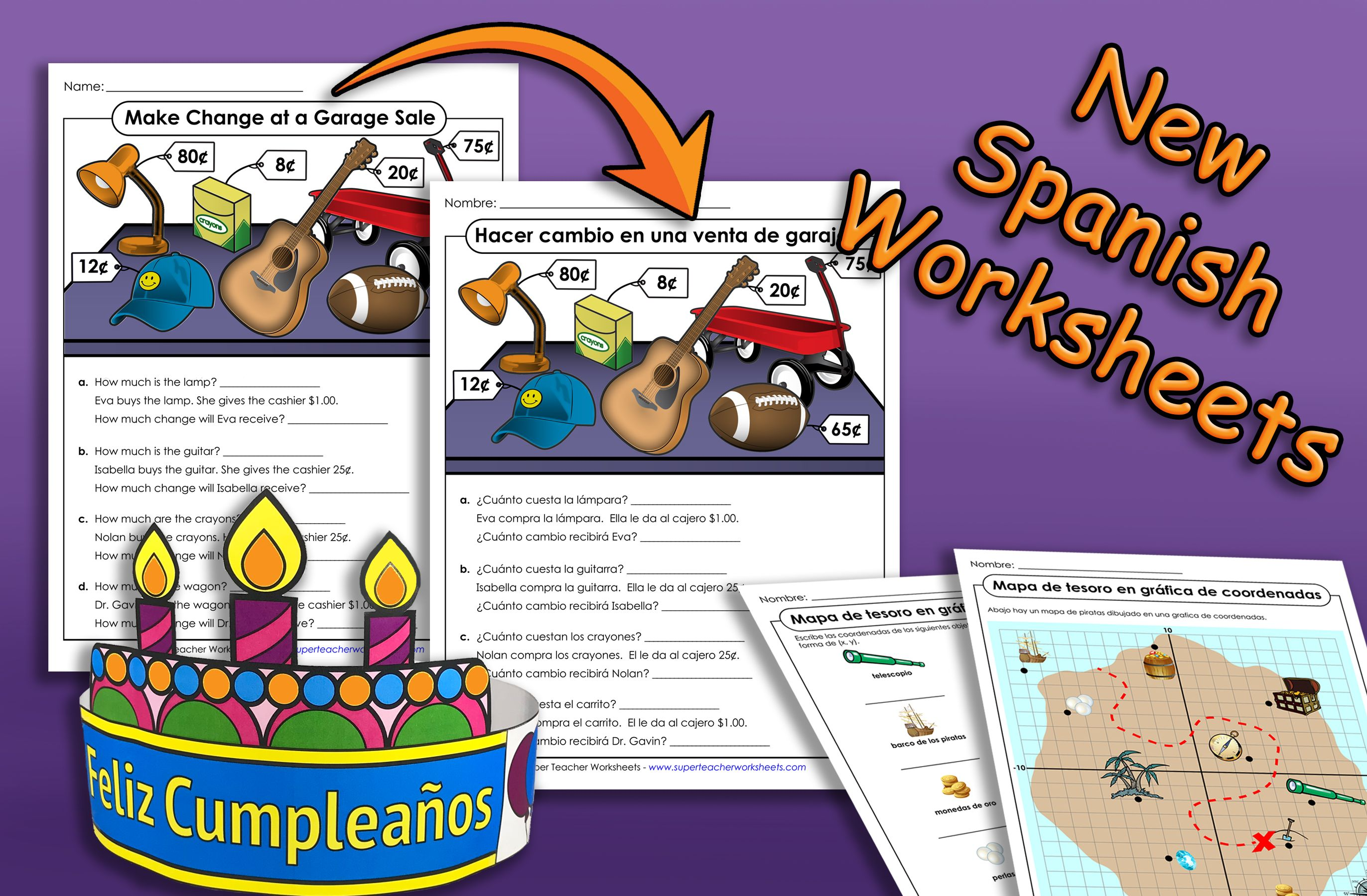 We Ve Added Many New Spanish Translated Worksheets And
