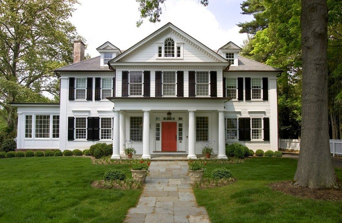 Architecture The Characteristics Of A Tudor House Style Charming American Home Design Colonial House Colonial Style Homes