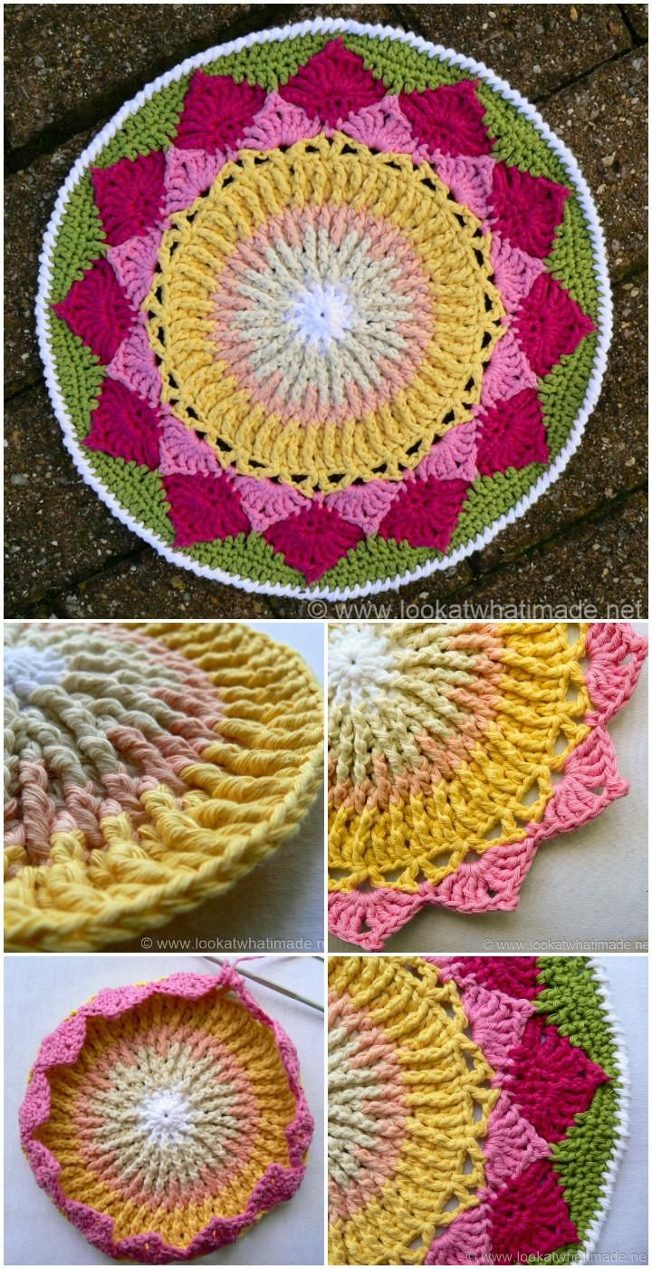 60+ Free Crochet Mandala Patterns | Mandalas, Papel y Sueños