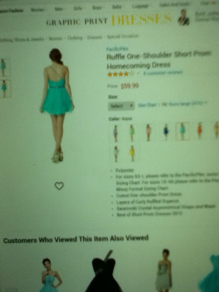 Back of Light Blue Formal Dress 9