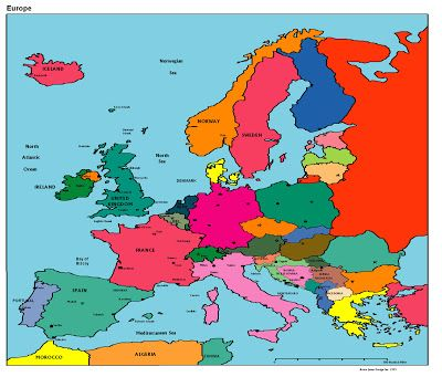 Awesome Europe Maps Europe Maps Writing Has Been Updated New - Political map of europe with capitals