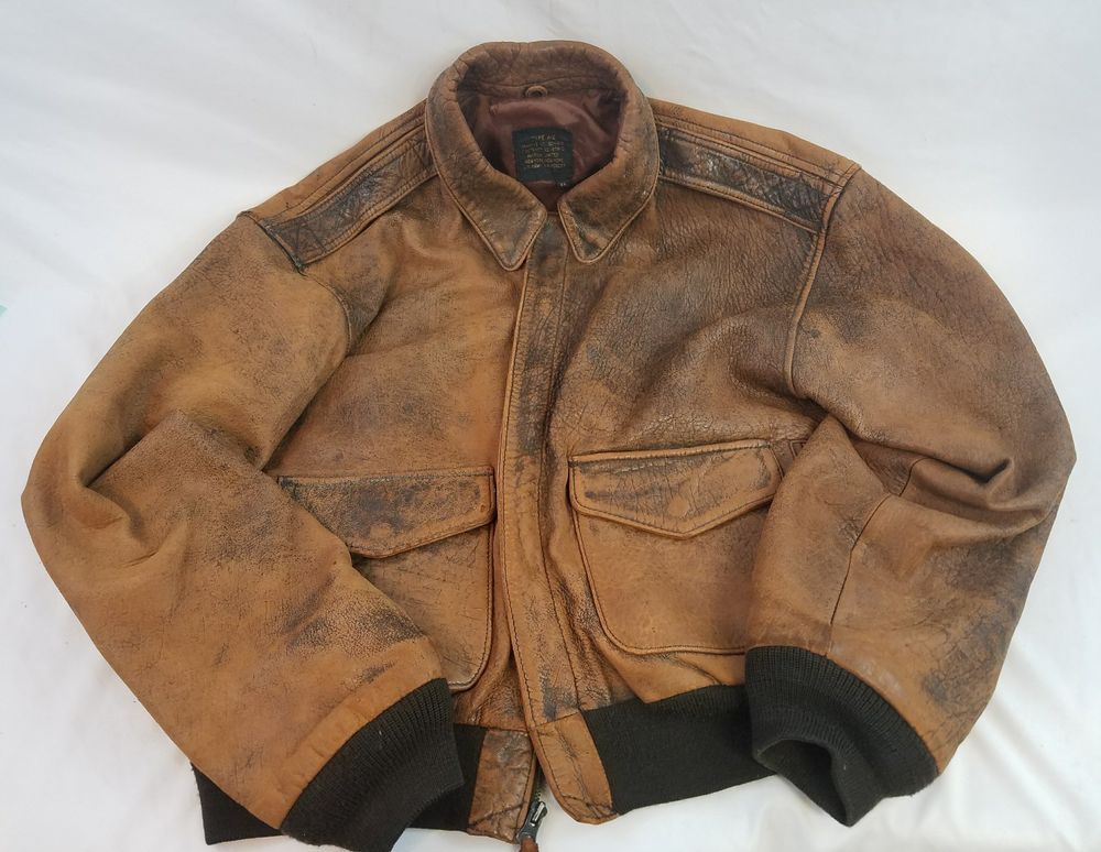 Vintage Avirex A2 Jacket,Flight,Leather,Bomber,Squadron