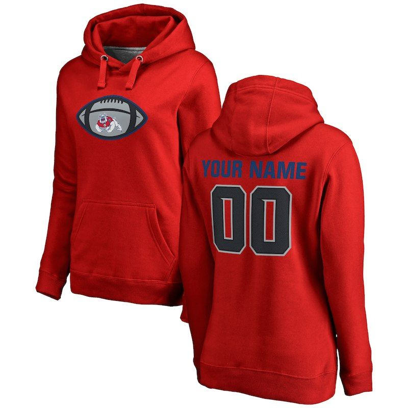 a4c47cb28af Fresno State Bulldogs Fanatics Branded Women's Game Ball Personalized  Pullover Hoodie – Red