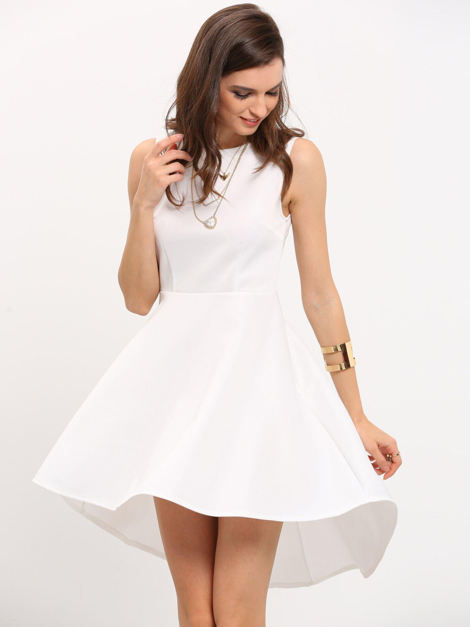 a33ebf45ad5d9 Shop White Sleeveless Asymmetric Hem Flare Dress online. SheIn offers White  Sleeveless Asymmetric Hem Flare Dress   more to fit your fashionable needs.