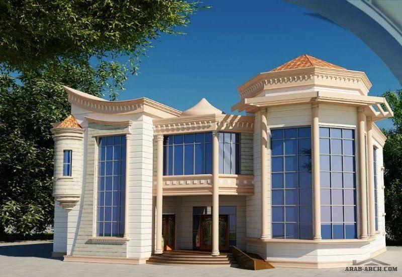 واجهات فلل فاخرة تحتوى على تصاميم شبابيك مميزة House Floor Design Family House Plans House Styles