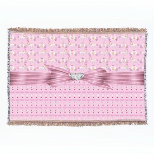 Princess Hearts Throw Blanket