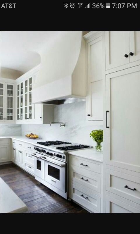 White Shaker Cabinets With Oil Rubbed Bronze Pulls Like The Rustic Touch White Ikea Kitchen Kitchen Remodel Kitchen Design