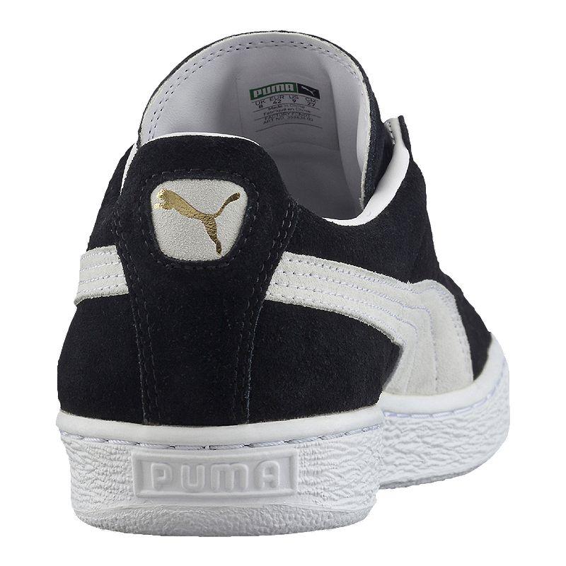 PUMA Men's Suede Classic+ Shoes BlackWhite | Black shoes