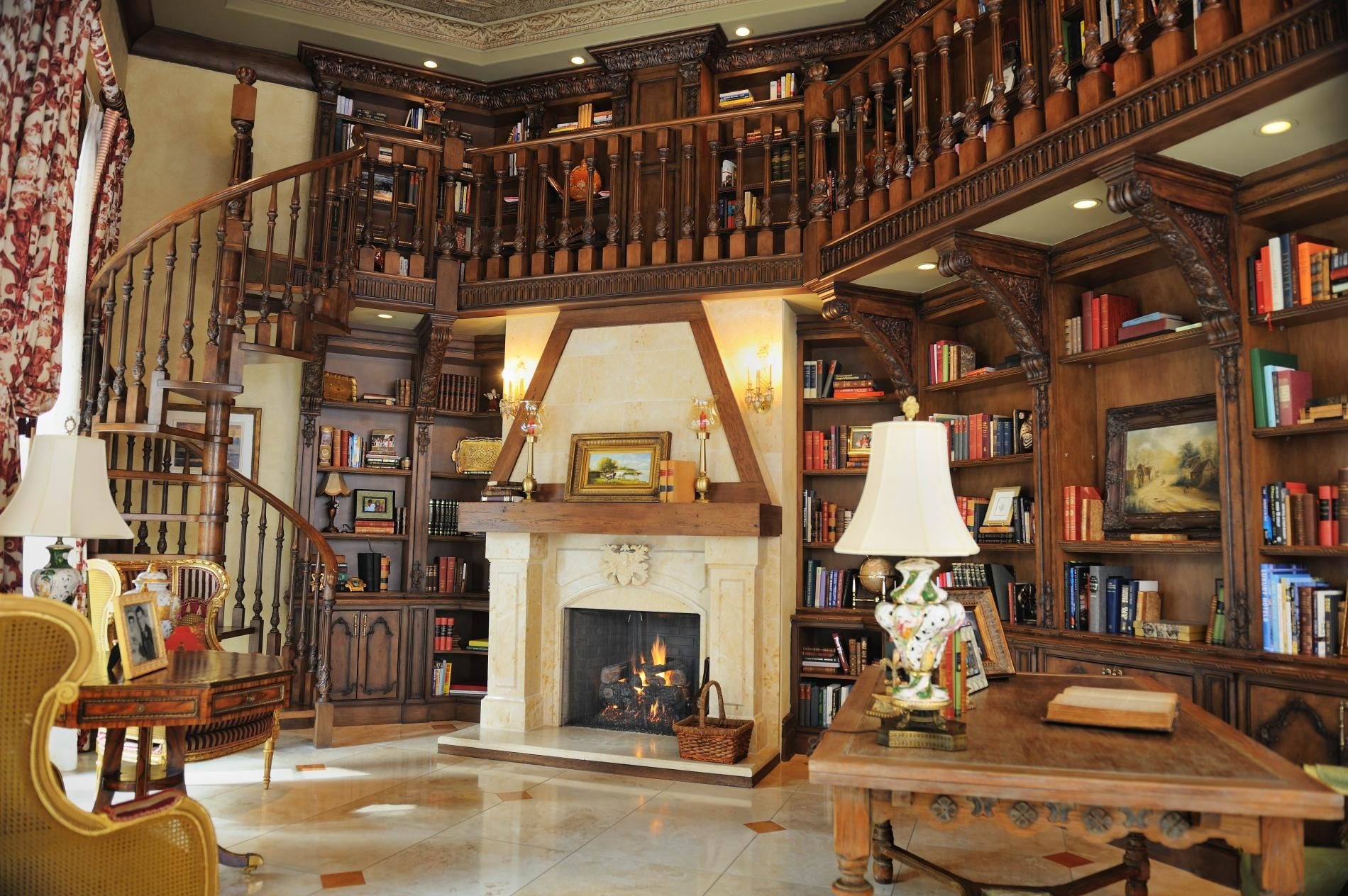 Pin by Kristen Gibbons on Dream Office/Library | Home library ...