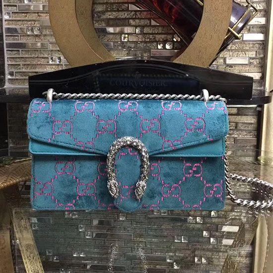 8e0fd0d5a19c Gucci Dionysus GG Velvet Small Shoulder Bag 499623 Gucci Outlet Online,  Dionysus, Blue Velvet