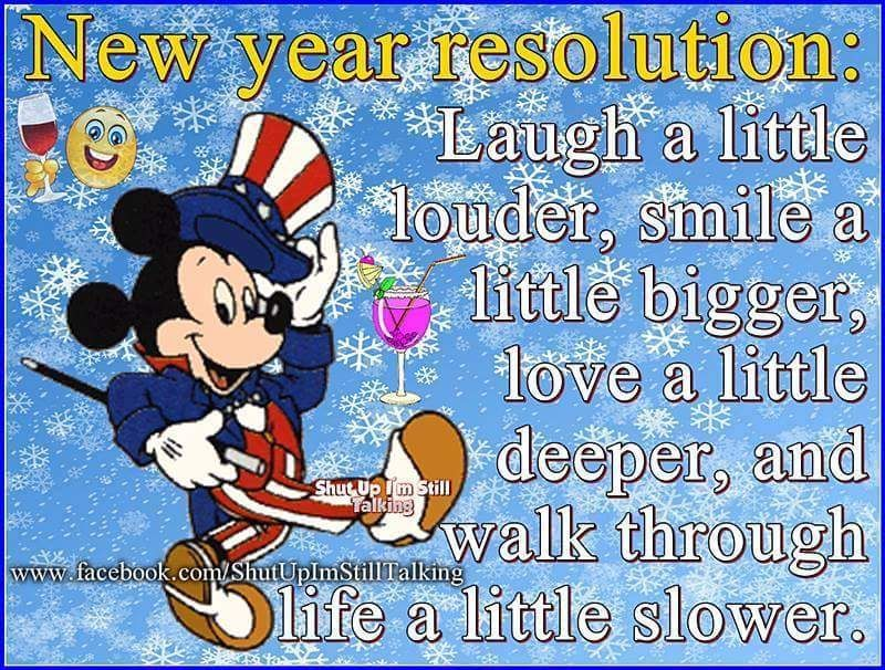 cute disney new years resolution quote