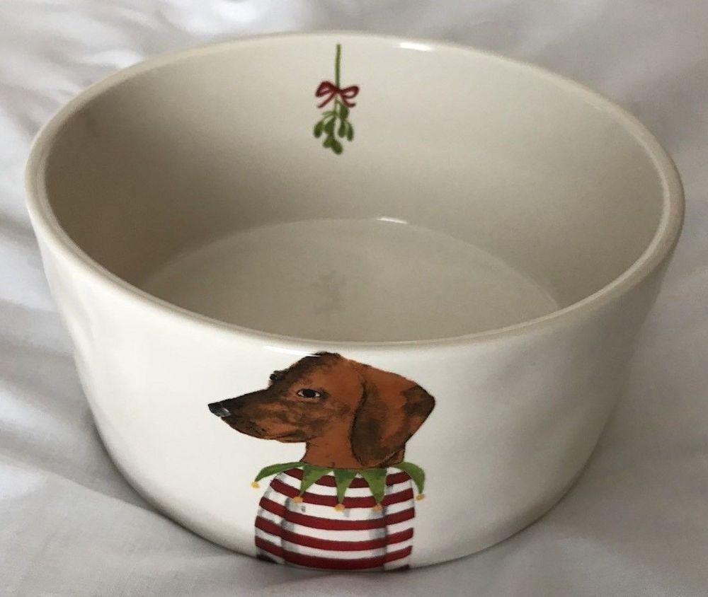 Rae Dunn Dachshund Doxie Wiener Dog Christmas Holiday Dog