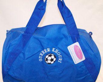 Soccer Duffel Bag Sports Gym + Free Name