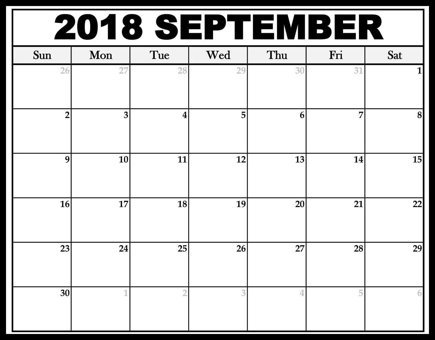 September Calendar South Africa September Calendar Calendar Word 2018 Calendar Template
