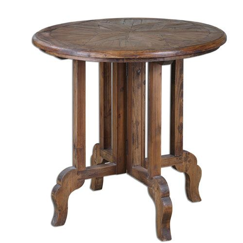 Imber Reclaimed Fir Wood Accent Table Uttermost End Tables Accent Tables Living Room Furni