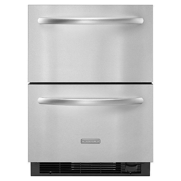 Stainless Steel Drawer Type Refrigerator Freezer So You Can Have These In A Tiny House To Connect With U Refrigerator Drawers Kitchen Aid Refrigerator