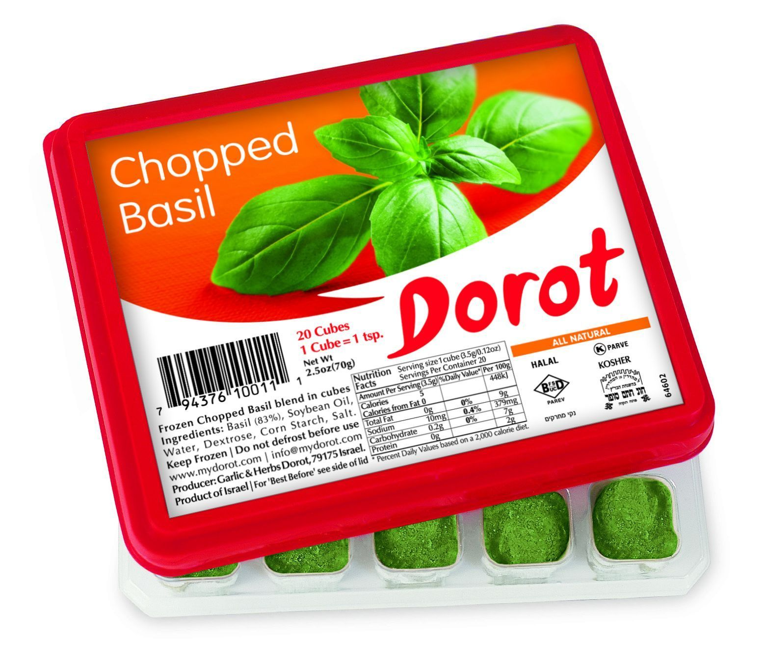 Chopped Basil Tray Cooking Essentials Freezing Herbs Frozen