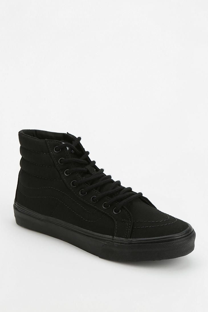 3c3b1287ef Vans Sk8-Hi Total Black Women s High-Top Sneaker - Urban Outfitters ...