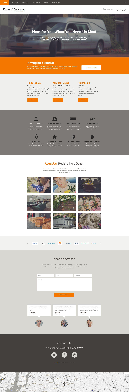 Funeral Services Responsive Drupal Template Drupal Themes